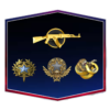 Steam Level 3 | 142 Wins & 1400 Hours | 2020, 2021 Service Medal | Broken Fang Diamond Coin