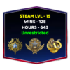2 Medals Account With Steam Level 15